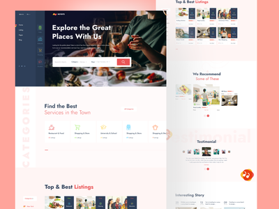 Directory & Listing uxdesign uidesign designs websites listing directory listing traveling hotel booking minimal flat design ux ui typography branding illustration animation web website design landing page