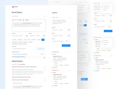 Event Create Page event app website design clean design user experience userinterface uiux uiuxdesign event landing page event create event page typography animation flat minimal ux branding web website design landing page