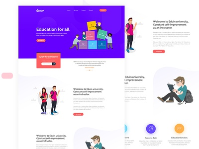 Free Education PSD Template.