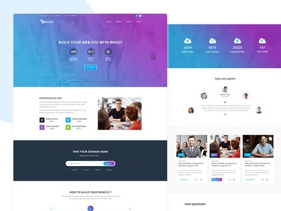 Bhost - Hosting PSD Template Free Download