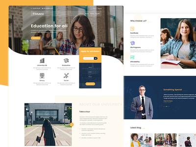 Edubird - Education PSD Template