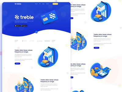 Treble - Home page design for a sim company!