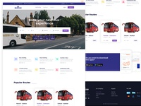 Bus Service Landing page