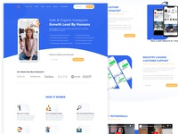 Instagram  Growth Landing Page