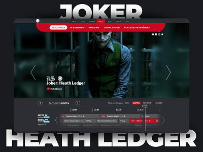 Heath Ledger - Joker In memoriam clean ui user experience user interface minimalist heath ledger joker tv show movie minimal uidesign agency clean web ux webdesign website ui interface design