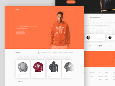 Ecommerce website web ux user ui minimal clean interface experience design fashion ecommerce