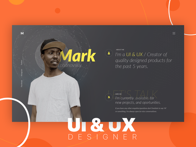 Personal Site simple clean landing page layout minimal agency dashboard webdesign ux web user interface website ui design