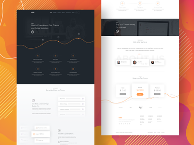 Theme Landing Page landing branding illustration uidesign agency webdesign web user interface website ui design