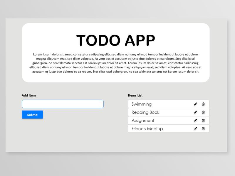 Todo Web Design ui ux submit design buttons creatives todo web todo app adobe xd