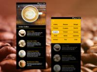 coffee app design