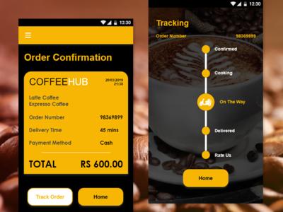 coffee app design - online service
