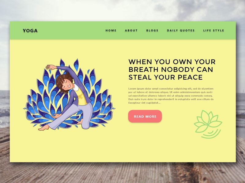Breath Yoga Life adobe xd branding sketch design ux ui exercise yoga inspiration love life yoga practice yoga app health website health breath yoga life