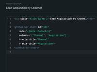 Gtmhub Insights code editor