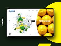 Amstel Radler //visual  & microsite design//