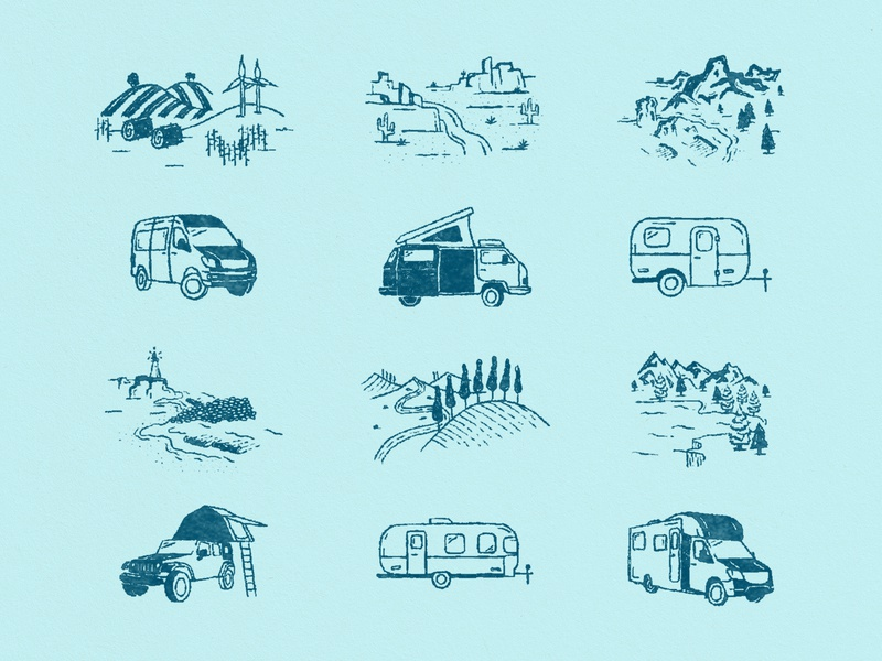 Outdoorsy Brand Illustrations