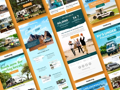 Outdoorsy Email Transformation ecommerce travel rv outdoorsy really good emails marketing email design email marketing email