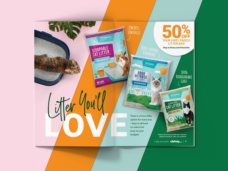Litter You'll Love fall art direction print design catalog cat chewy