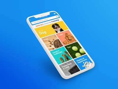 Chewy App Category Menu Redesign