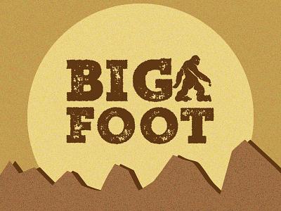 Big Foot - 30 Minute Challenge simple vector quick design fun illustration