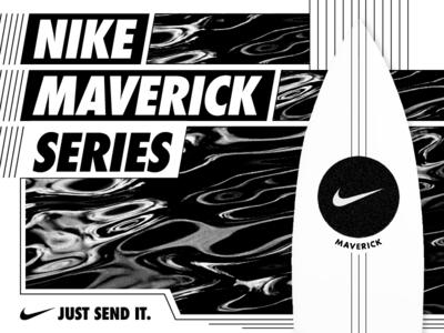 Nike_Maverick water line white black design board nike surfing surf