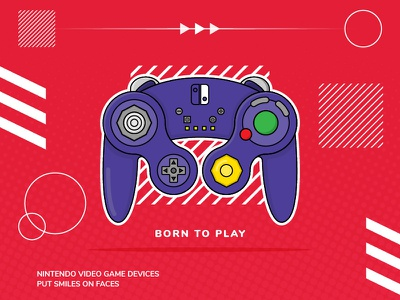Born To Play fun play video game game game cube pop design switch illustration controller