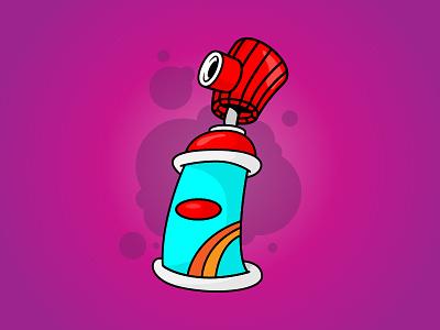 Taggin bright clean draw simple quick vector brand illustration fun illustrator spraycan spray tag