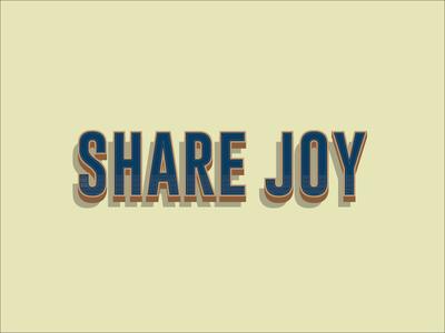 Share Joy Concept