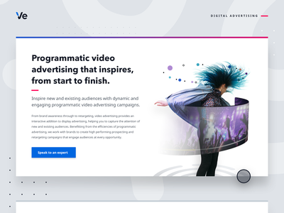 Video Advertising - web graphic illustration display ads online advertising targeting audience data movement inspire typography web  design dance music personalisation video video advertising digital advertising customer experience graphic graphic design
