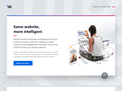 Digital Assistant - web graphic user website optimisation online shopping campaign data digital connected experiences engagement onsite digital assistant advertising illustration audience retail web design ecommerce customer experience graphic design personalisation graphic