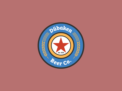 Dübaken Beer Co. illustrator german badge logo beer