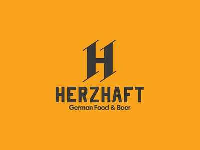 Herzhaft German Food & Beer identity restaurant german logo design logo illustrator illustration beer food