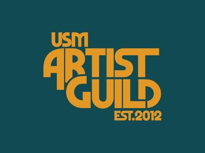 USM Artist Guild branding identity usm illustrator logo design logo artist guild