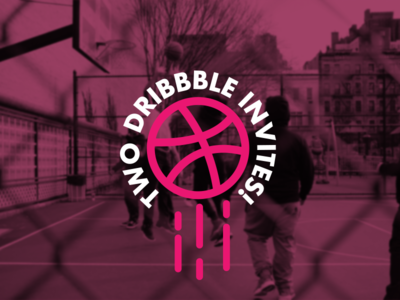 Two Invites! basketball court ball hoops basketball dribbble invites two invitations dribbble invites