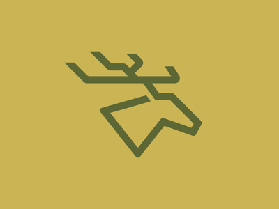 Deer Logo illustrator illustration design simplistic thick lines thicc branding logo deer