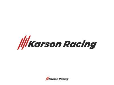 Karson Racing brand icon vector typography identity illustrate design color type logo design branding illustration illustrator logo