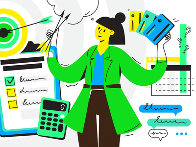 Personal financial plan — setting goals for yourself illustration