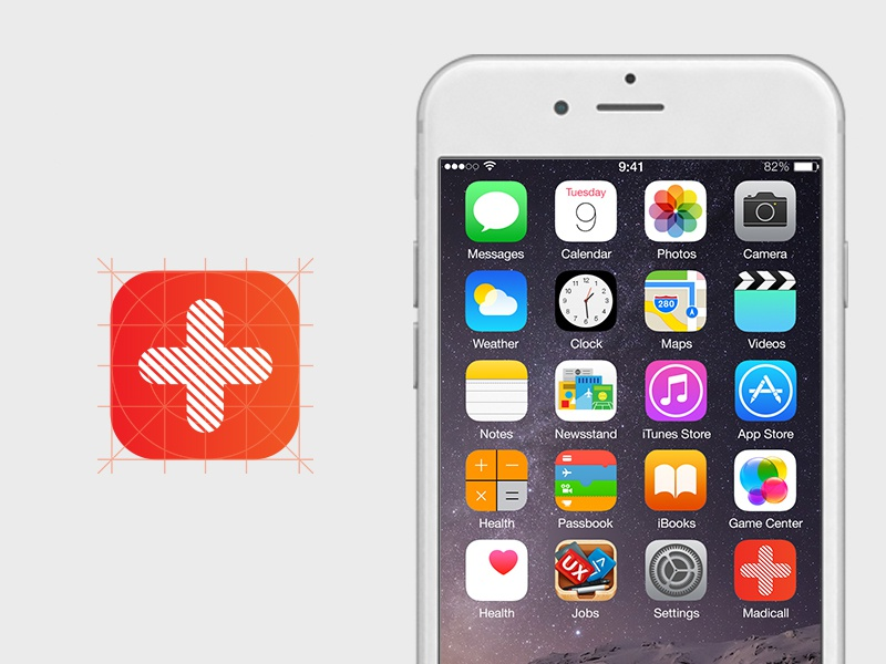Medicall App Icon Mockup By O2geeks On Dribbble