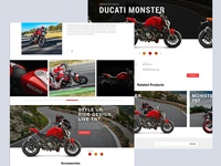 Bike Showroom Landing & Product details Page Design