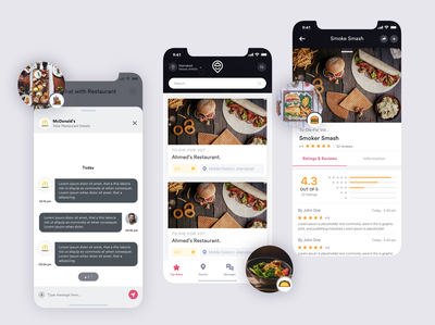Food Delivery app design for client 😍