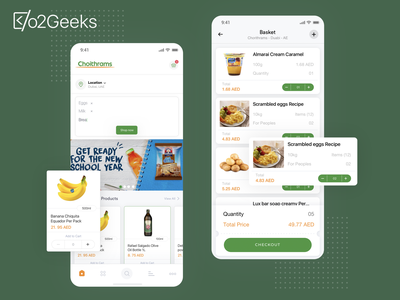 Food App interface design for client