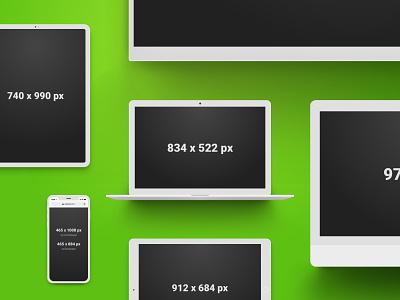 Apple Device Mockups for Sketch ipad tv imac macbook iphone clay device mockup mockups devices apple