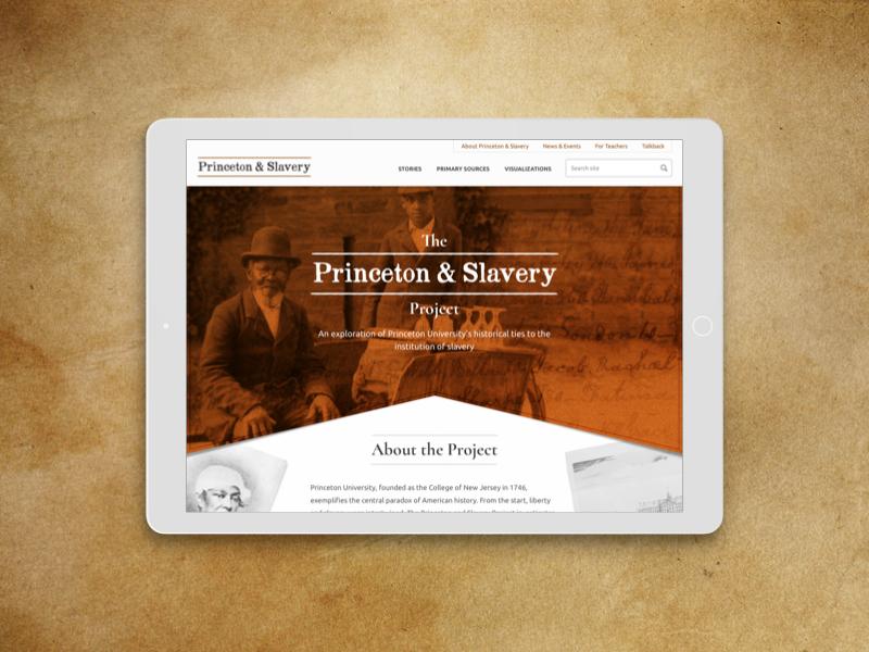 Princeton & Slavery Website web design ui ux princeton