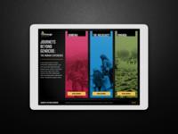 Journeys Beyond Genocide Interactive Exhibit App
