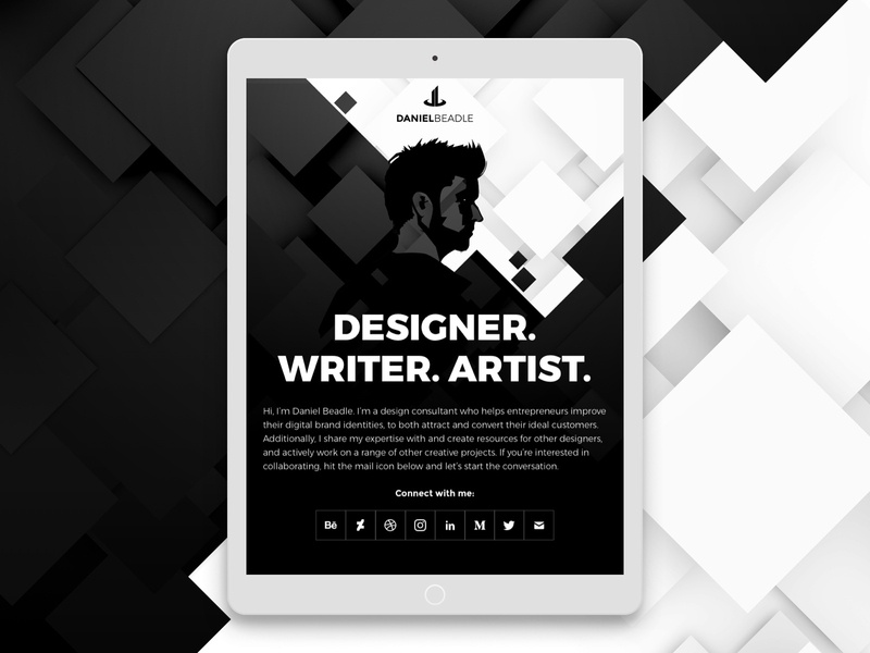 DB Website V8 blackandwhite designer onepager webdesign website