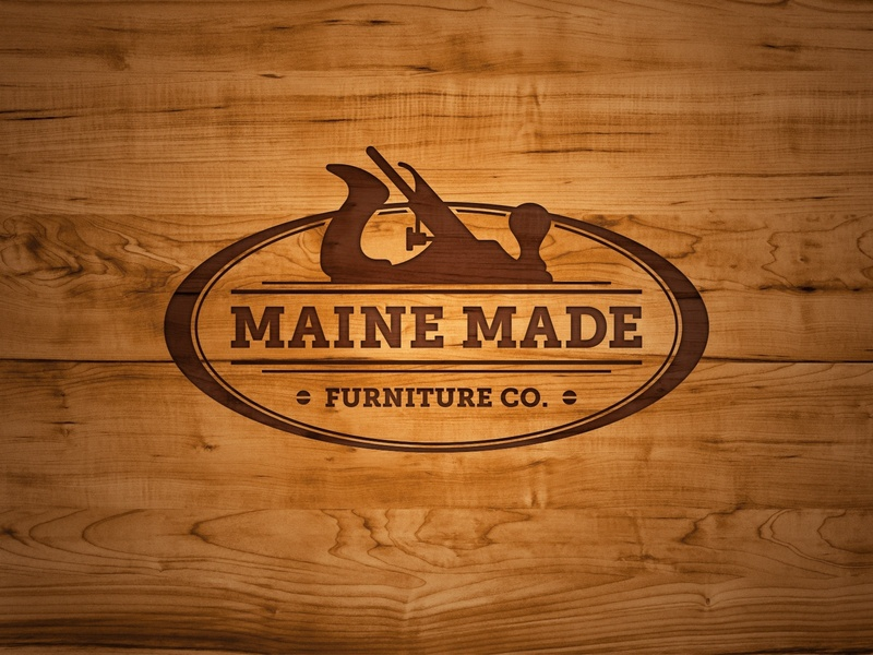 Maine Made Furniture Logo logo design logo maine furniture