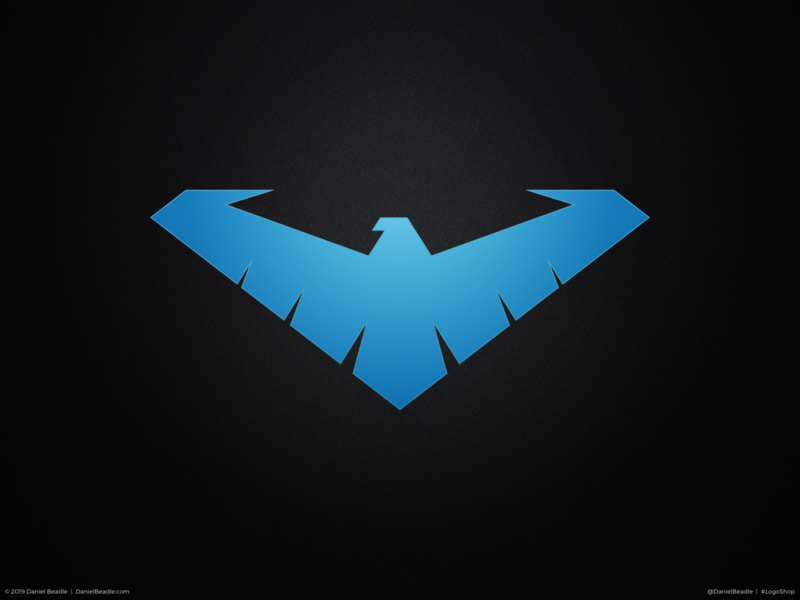 Nightwing Logo robin nightwing batman comic book branding brand logo