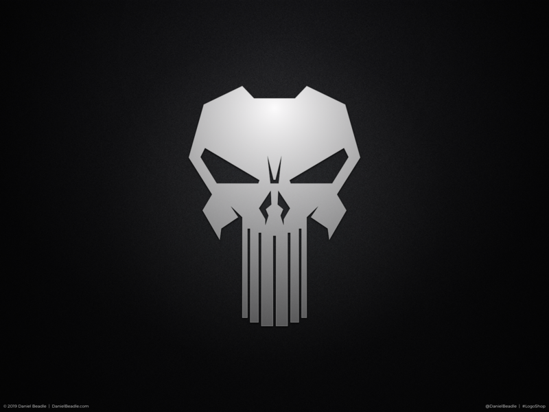 The Punisher Logo punisher comic book branding brand logo