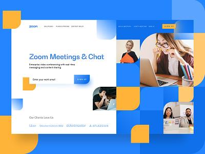 ZOOM Concept app ui identity branding logo call meeting video dashboard concept screen promo zoom