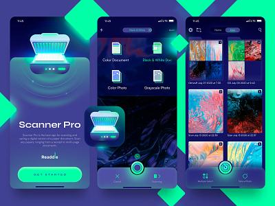 Scanner Pro design concept app design scanner mobile ui ui mobile apple