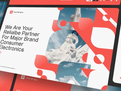 Malta Techenjoy ui color malta web advertising typography font promo
